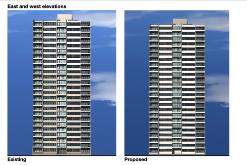 8) East and west elevations